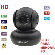 Camera Ip Hd 720p 1.3 Mp Wi-fi Noturna + Sd + Áudio Celular