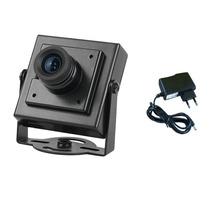 Micro Camera De Segurança Color Ccd 600 Linhas +fonte Brinde