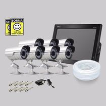 Kit Dvr Stand Alone Monitor 8 Canais Intelbras 7 Camera Sony