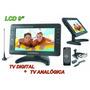 Tela Lcd 9 Polegadas Portátil Tv Digital E Analógica Cftv