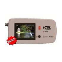 Cftv Tester Testador De Câmeras De Cftv Monitor Color Icel
