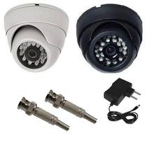 Camera Dome Ccd Infra Vermelho 24 Leds 20mt 800 Linhas 3,6mm