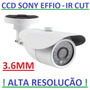Camera Infravermelho Ccd 1/3 Sony Effio Ir-cut Sup Intelbras