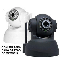 Camera Ip Sem Fio Hd 720p 1.3 Mp Wi-fi Noturna Micro + Áudio