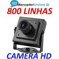 Mini Camera Ccd Colorida De Segurança 800 Linhas Hd Espiã !!