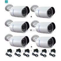 Kit 6 Câmeras Infravermelho 50mt 1500 Linhas Hd Ir Cut E Blc