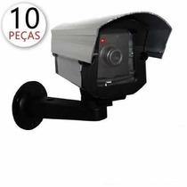 Kit 10 Câmera De Segurança E Monitoramento Falsa Com Led Fak