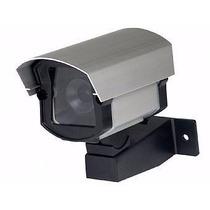 Camera Falsa Com Led Em Caixa De Proteçao Alumínio Anodizado