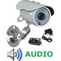 Camera Infra Visão Noturna + Microfone Áudio + Fonte Gratis