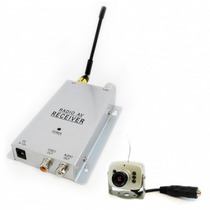 Mini Camera Prata 1208sf S/ Fio Wireless + Receptor + Fontes