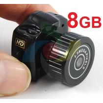 Ultra Micro Câmera Espiã Filma Em Hd Mini Dv C/ 8gb Grátis!