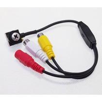 Micro Câmera Cftv, 600 L.camuflada Parafuso Audio ,mod. 02