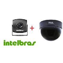 Mini Câmera Intelbras Vm 320 Day & Night Color + Dome 3 Pt