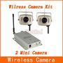 Kit 2 Mini Câmeras Sem Fio Wireless Completa Color 6 Leds