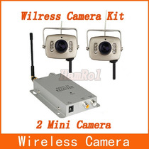 Kit 2 Mini Câmeras Sem Fio Wireless Completa Color 6 Leds