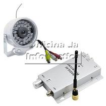 Mini Câmera Dia E Noite Infra S/fio Wireless Com Áudio