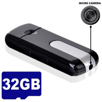 Kit 32g Pen Drive Espião Camera Espiã Com Sensor Movimento