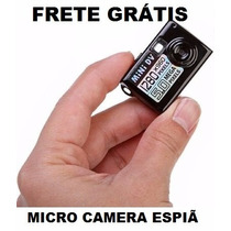Mini Filmadora Detetive Hd Camera Dv Espiã Foto Video Voz