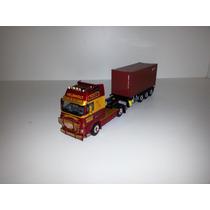 Wsi - Caminhao Volvo + Carreta + Container 1:50