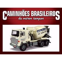 Miniatura Caminhões Brasileiros Betoneira Scania Lks 140