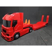 Caminhão Prancha 02 Eixos 65 Cm Comprimento 12 Cm Largura