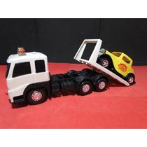 Caminhão Plataforma Comp=26cm Larg=09cm Alt=12cm
