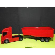 Caminhão Caçamba Vermelho Comp=50cm Larg=12cm Altura=16cm