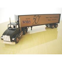 Caminhão Carreta Bau Winross Usa 1/64 1992 Radio Wsba 910 Am
