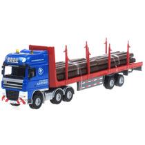 Caminhão Transporte Madeira 1/50 Kdw Kaidiwei Volvo Scania