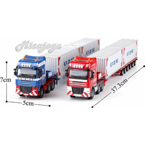 Caminhão Container Plataforma 1/50 Kdw Kaidiwei Volvo Scania