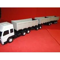 Caminhão Carreta Bitrem Tritrem Brinquedo Articulado 9 Eixos
