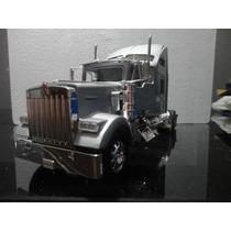 Miniatura Caminhão Kenworth W900 Prata 1:32 Welly