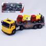 Caminhão Cegonha Com Dois Carrinhos Brinquedo Frete Grátis