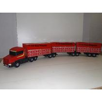 Mini Caminhão Brinquedo Scania Bitrem 9 Eixo Tritrem Madeira