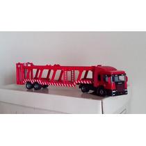 Caminhão Jamanta Vermelho Para Transporte De Carro Miniatura