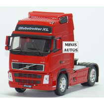 Miniatura Caminhão Volvo Fh12 Vermelho Welly Escala 1/32