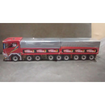 Caminhão De Madeira Carreta Bi-trem Alta Qualidade (90cm)