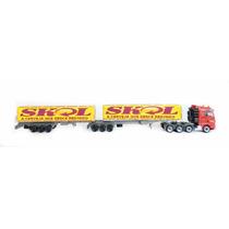 Reboques Bi-trem 6eixos Furgão Sider Skol Ho 1/87 Hbm 009
