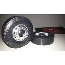 Kit De 48 Rodas De Plastico Plus 8cm 1-14 Caminhao Kmc