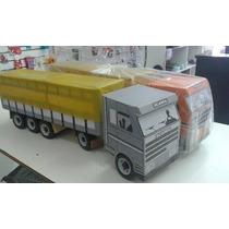 Carreta Caminhão De Madeira Carroceria Com Lona