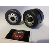 Kit De 24 Rodas De Plastico Plus 7cm 1-14 Caminhao Kmc