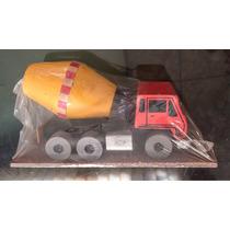 Caminhão P/ Concreto - Miniatura Xalingo - Madeira - Cometa