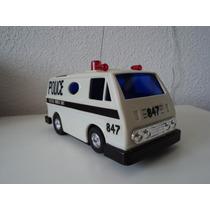 Carro De Policia Controle Remoto Decada De 80.