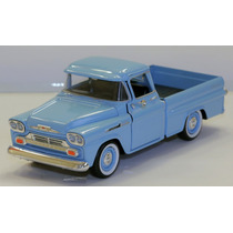 Miniatura Chevy Apache Pick-up 1959 Motormax 1:24 Azul