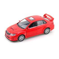 Carrinho Subaru Wrx Sti Vermelho - Ferro E Fricção 1/36