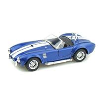 Carrinho Shelby Cobra 1965 Azul Ferro E Fricção