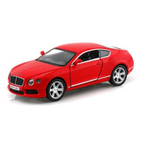 Carrinho Bentley Continental Gt V8 Vermelho Ferro E Fricção