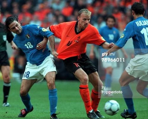 Resultado de imagem para italia x holanda euro 2000