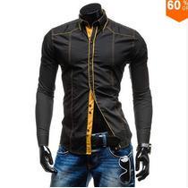 Camisa Barata Slim Social Fit Luxo Importada