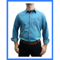 Camisa Jeans Importada Linda 3 Cores A Pronta Entrega+brinde